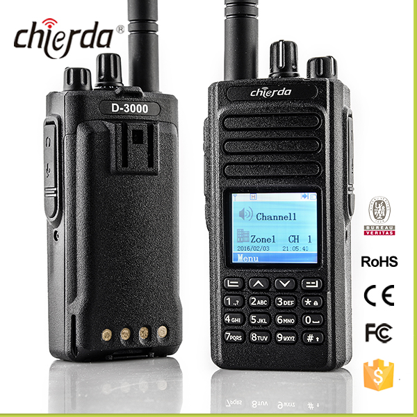CE FCC approved UHF VHF DMR radio ,IP66 slot 1 and slot 2 ham radio compatible with Motorol walkie talkie