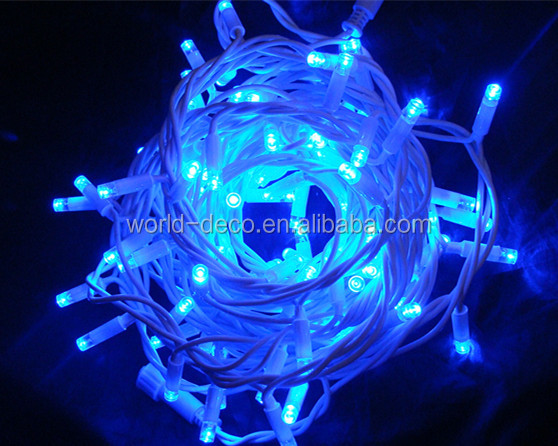 Blue Waterproof Led Christmas Light / 230v Outdoor Rubber Cable ...