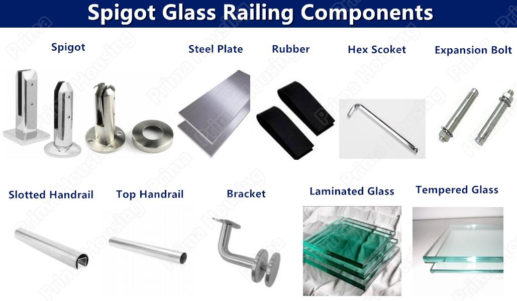 Prima Glass Railing Fittings Balcony Exterior Glass Railing Aluminum  Handrail - Buy Aluminium Profile For Glass Railing,Stainless Steel  Adjustable