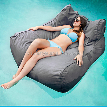 Merveilleux 2016 Outdoor Waterproof Bean Bag Floating Bed Swimming Pool Beanbag Chairs