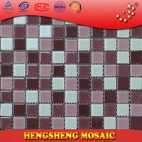 Anti-Slip Swimming Pool Bathroom Kitchen Crystal Glass Mosaic Tiles vinyl tile floor patterns