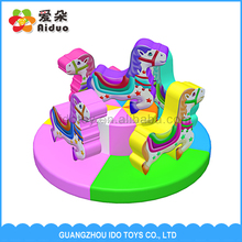 Funny Revolving Pony Turntable Indoor Play Soft Equipment Price