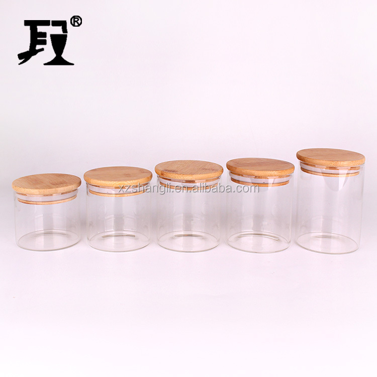 250ml,350ml,450ml Large Candle Glass,Glass Candle Jars with Cork Lids