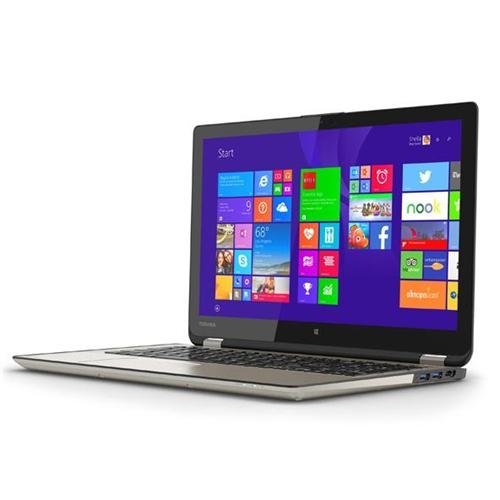 "Toshiba Flagship 2-in-1 Convertible Tablet UltraBook 15.6"" Touchscreen Laptop P55W-B5318 - Intel Core i7-4510U - 12GB DDR3L Ram Memory - 256GB SSD Solid State Drive Satin Gold"