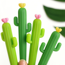 hot selling cute cactus shape ballpoint pens silicone Cactus pen