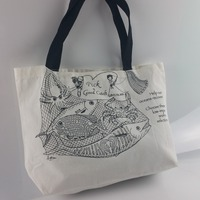factory audit custom printed grocery shopping tote cotton bag