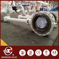 hydraulic actuator butterfly valve with extension spindle