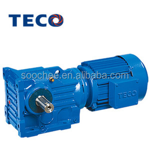 TECO brand K series helical bevel geared motor gear box for hoist