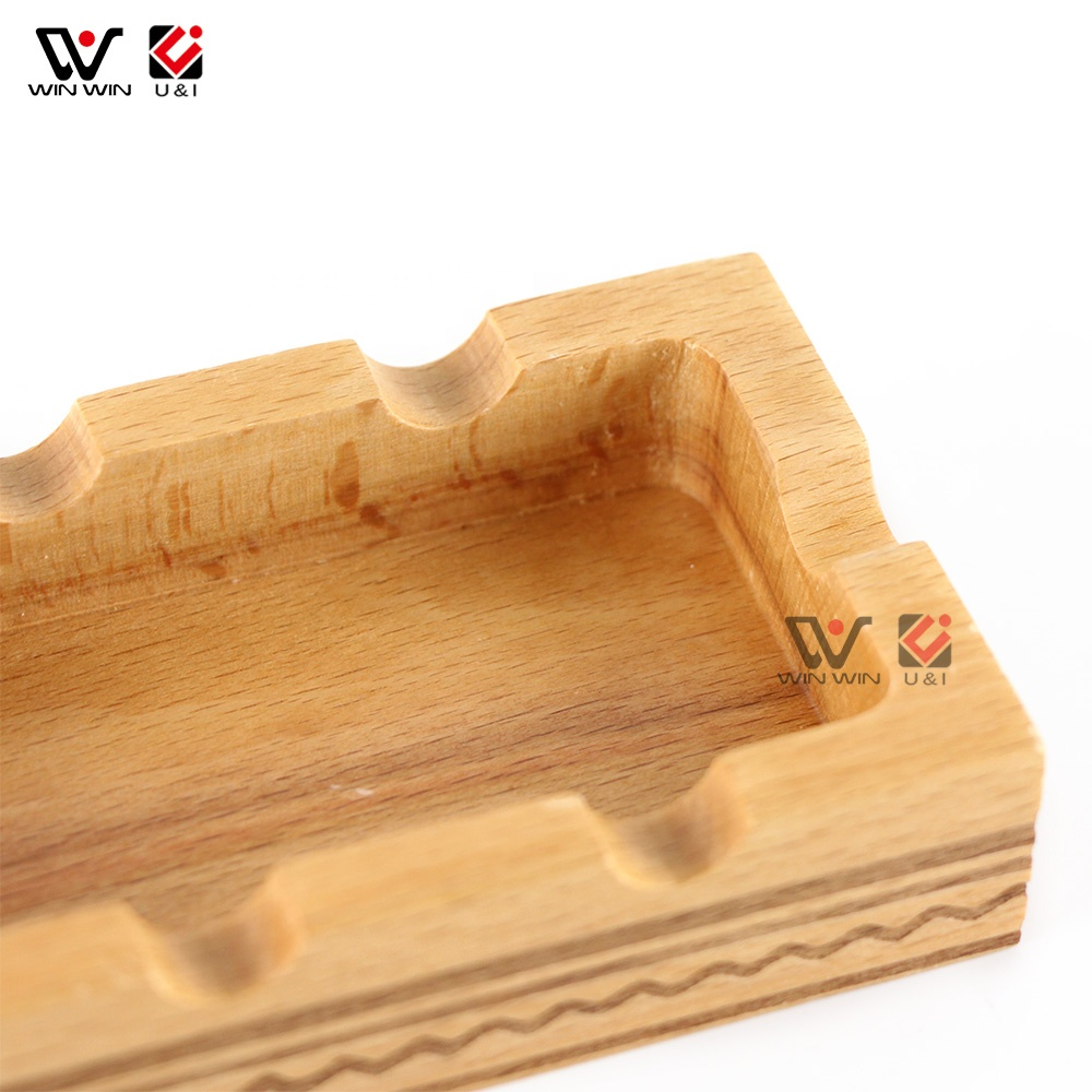 Retro Solid Wood Home Decoration Wooden Ashtray for Car Portable Home Ashtray