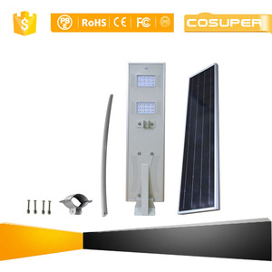 app control integrated solar street light 80w with camera
