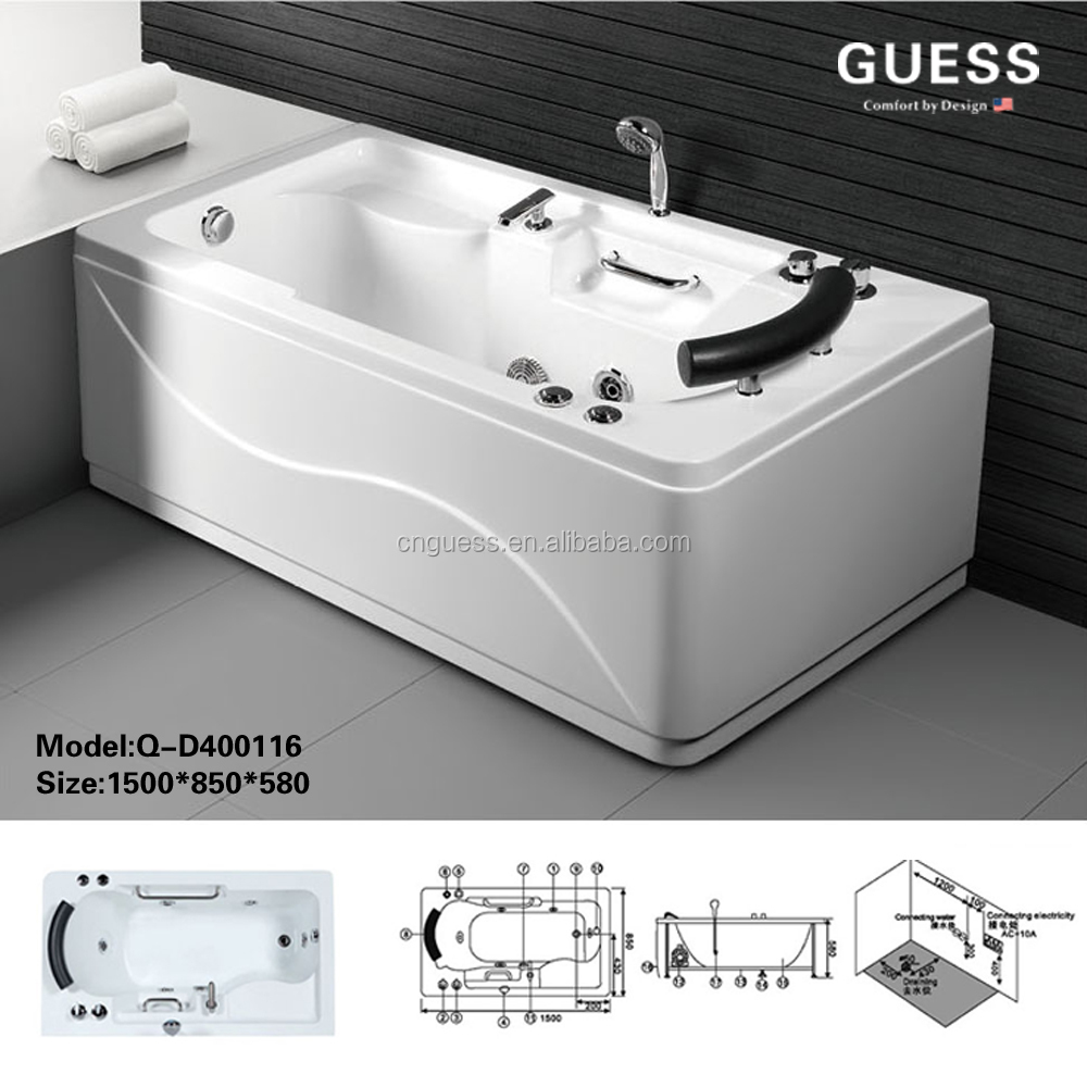 Massage Tubs/acrylic Bathtubs/guangdong Tubs/q-d40116/guess - Buy Massage  Tubs,Acrylic Bathtubs,Plastic Rectangular Tub Product on Alibaba.com