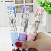 1pcs Cute Designer Students Pen Shape Eraser Rubber Stationery Kid Gift Toy School Supplies 3 Colors