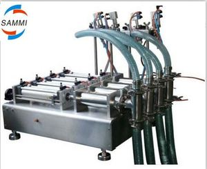 100-1000ml Pneumatic Liquid Filling Machine with 4 heads, Bottle Liquid Filler