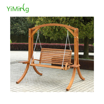 Hot Ing Simple Design Outdoor Wooden Double Swing