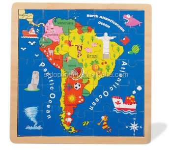 2016 World Map Wood South America And North America Map ...