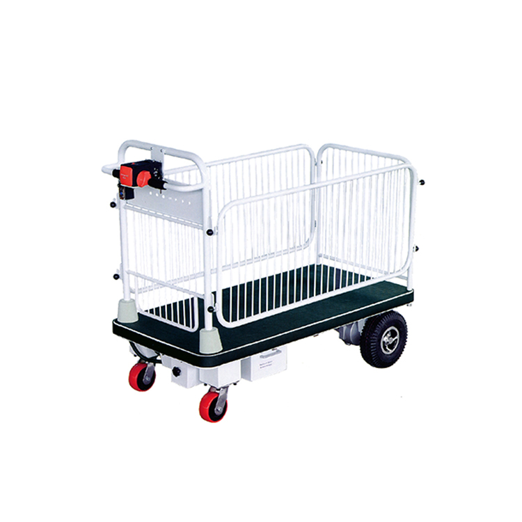 Four-wheel stainless steel platform electric hand truck