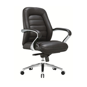 middle back office chair YS1101B leather upholstery staff chair