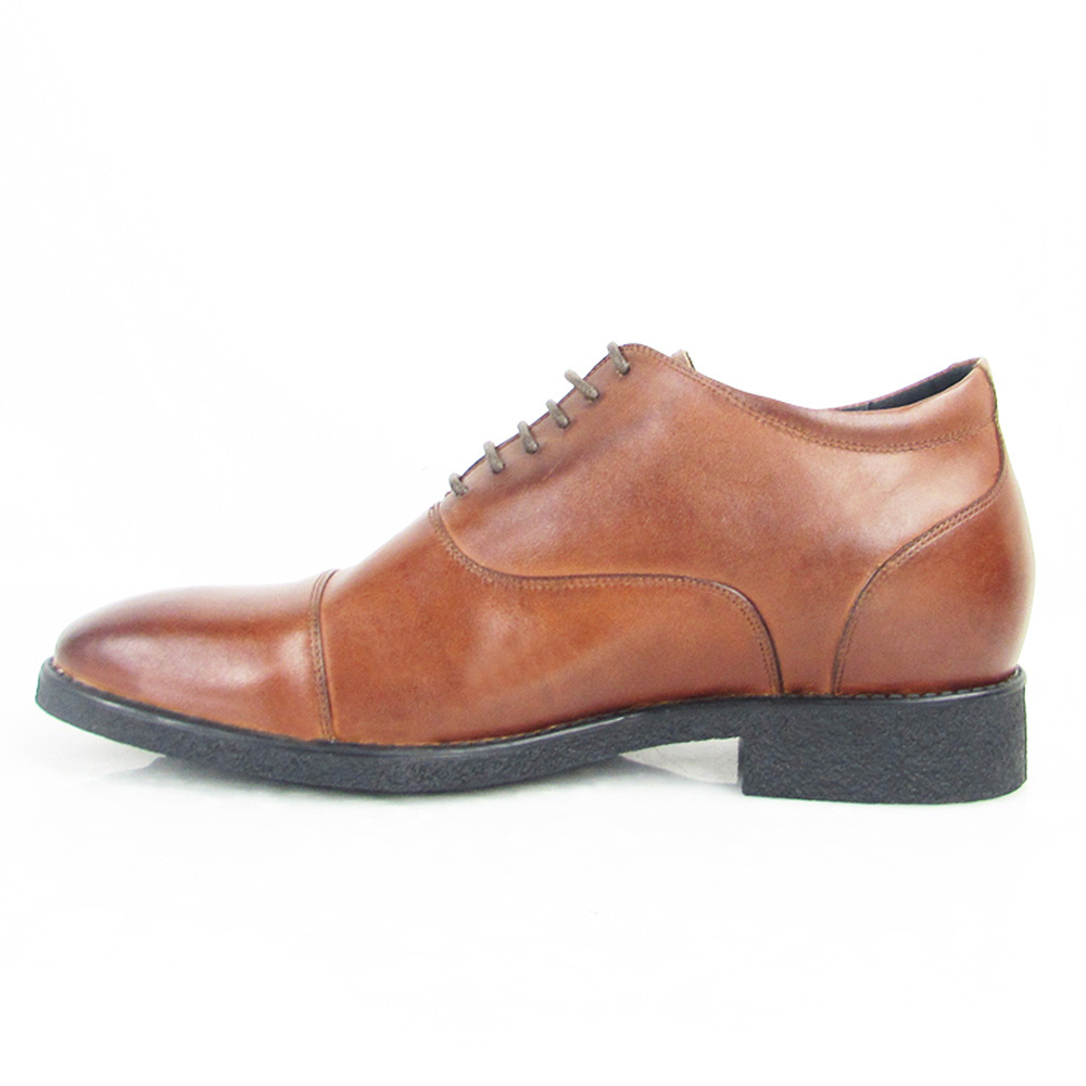 best New men elevator Oxford shoes cow leather handmade for tan wrzrXAq1