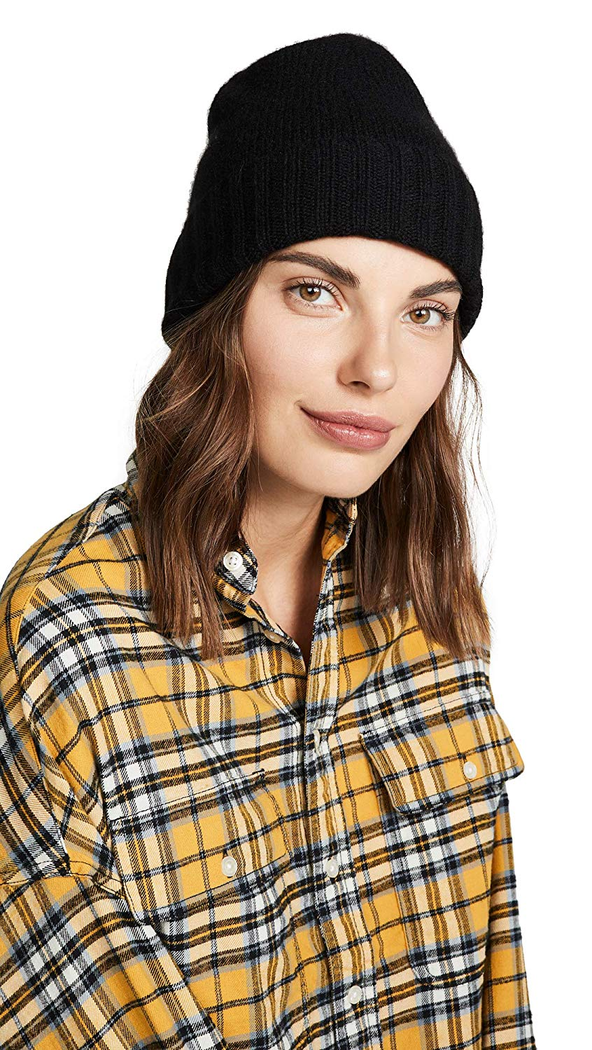 87471176aa8 Get Quotations · Hat Attack Womens Cashmere Slouchy Cuff Hat