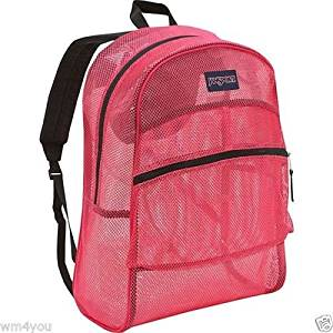 f50f87512695 Get Quotations · JanSport Mesh Backpack (Majestic Pink)