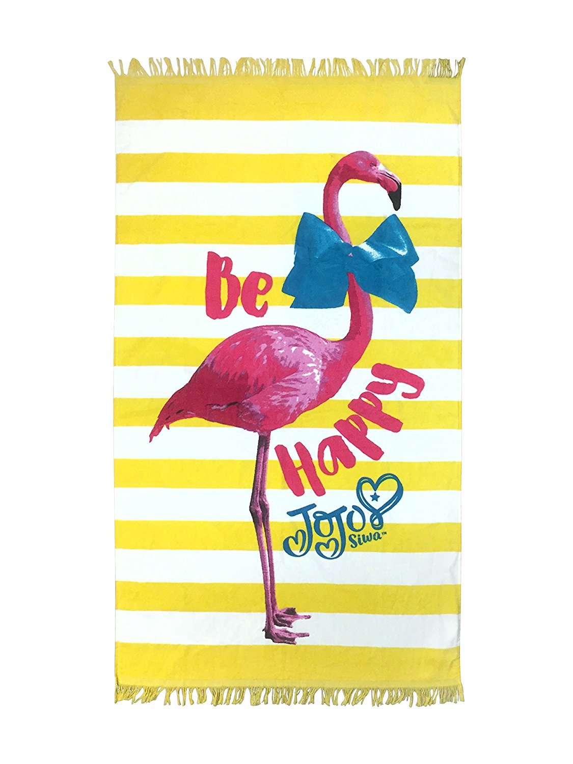 Nickelodeon JoJo Siwa Flamingo Yellow Cotton Bath/Pool/Beach Towel (Official JoJo Siwa Product)