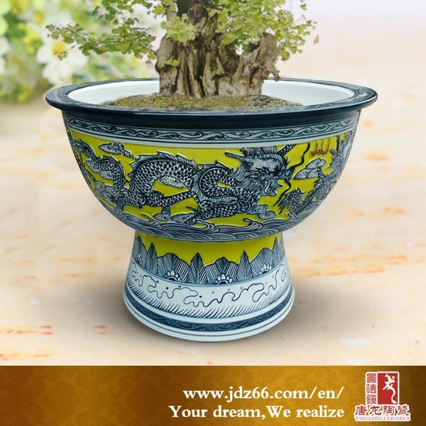 Unique Design Chinese Large Flower Pot For Plant Outdoor Pots Glazed Product On Alibaba