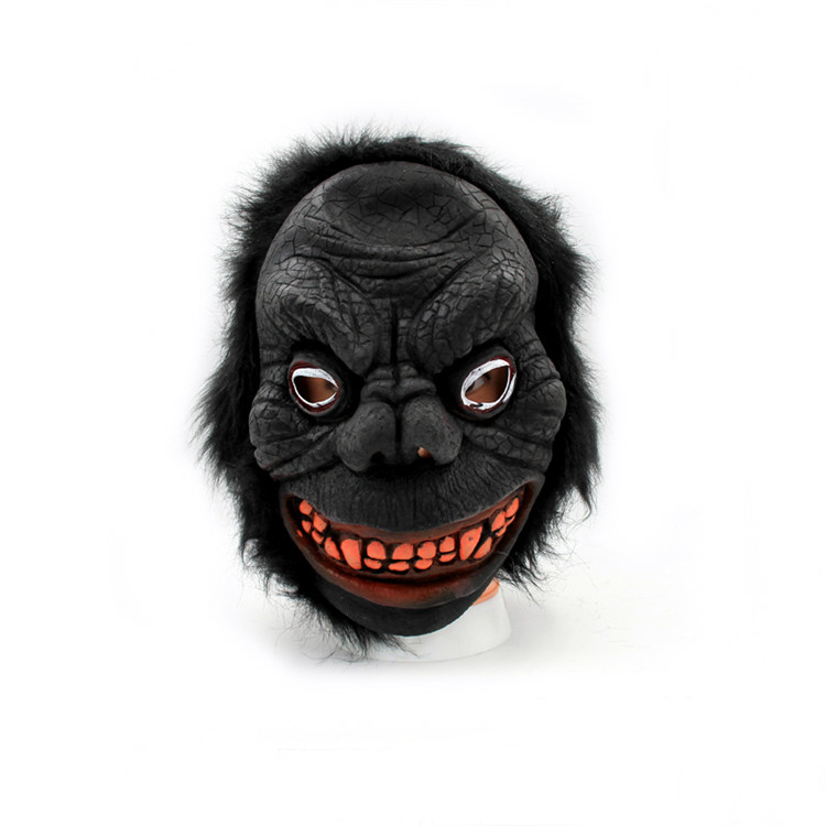 Wholesale cheap black monster masquerade Halloween masks custom made party mask manufacturer sale