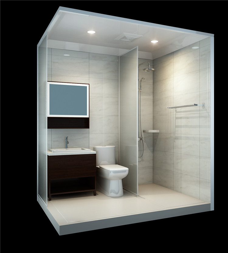 Prefab bathroom 28 images china supplier sunzoom for Prefab guest house with bathroom and kitchen