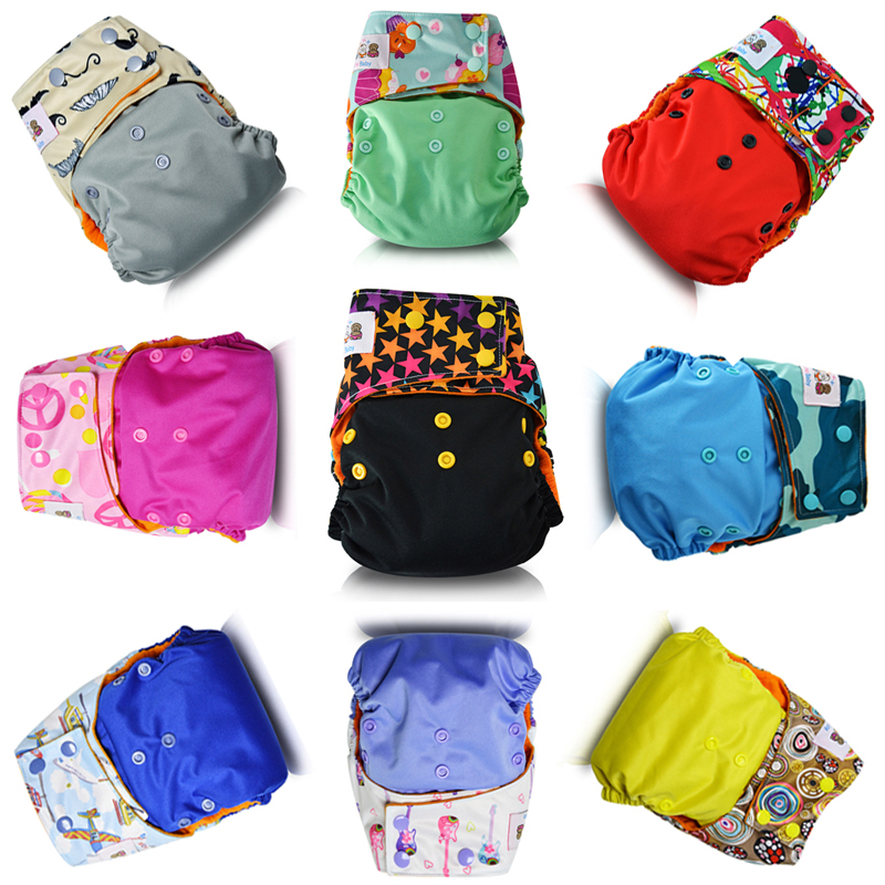 JinoBaby cloth nappy eco friendly baby diapers in bulk for NB to 38 Pounds Pack of