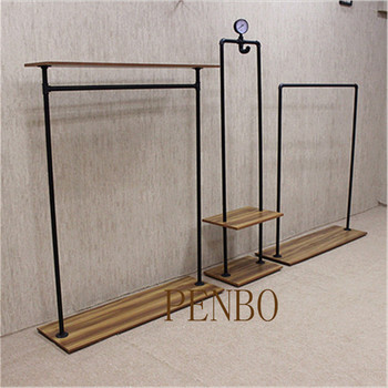 Garment shop display wooden clothes hanger stand, hanger stand for clothes