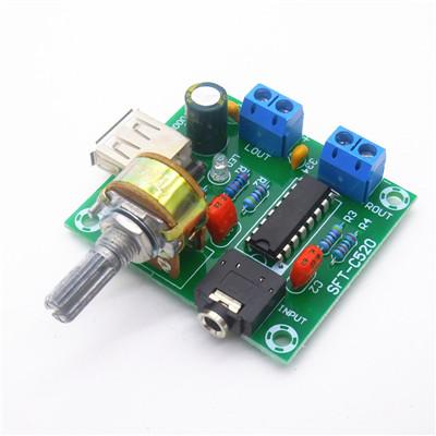 DC 2-6V PM2038 Dual Track 5Wx2 Amplifier Board 5W+5W Module USB Power Supply S