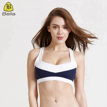 Sexy ladies sports bra manufacturer gym crop top