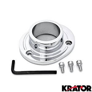 Krator Dirt Bike Exhaust Tip Muffler Power Outlet Chrome For 2000 Honda XR650 / XR650R