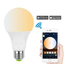 Hangat PUTIH COOL Putih 6.5 W Dimmable Timer Mode Musik Group Control Smart WIFI Bohlam <span class=keywords><strong>LED</strong></span>