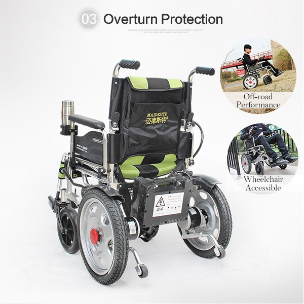 Cheap Power Small Aluminum Electric Wheelchair With Motor
