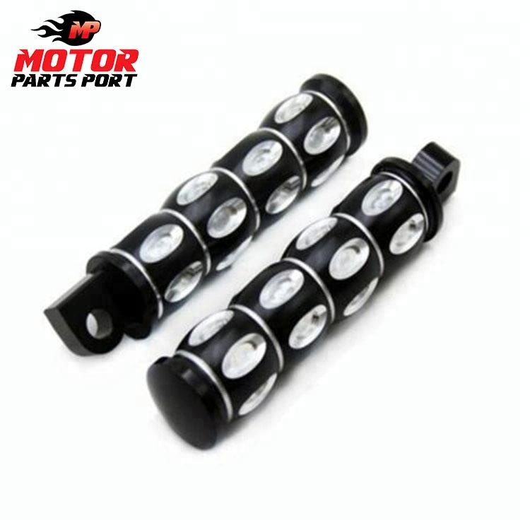 XMT-MOTO 10mm Highway Foot Pegs Footrest Chrome fits for Harley Davidson Touring Softail Dyna