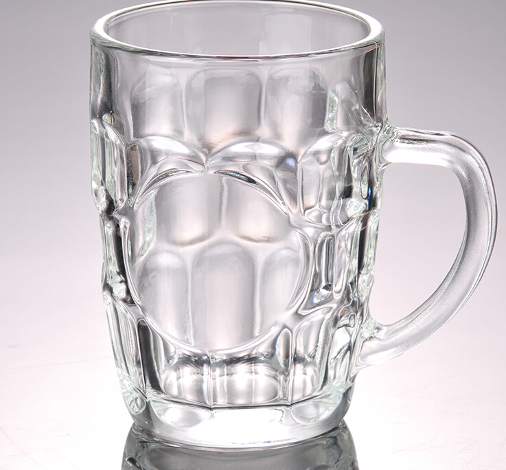The Great British Pint Dimple Mug - Gift Boxed Glass Tankards, Great as a Beer Gift