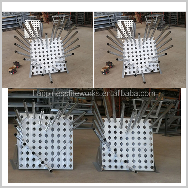 2017 New product 1.5inch (hole diameter 52mm) 7*7(49) shots Roman candles fireworks pyrotechnic aluminium letter display racks