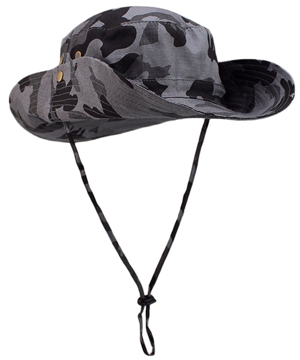 daea5d84d36 Get Quotations · Panegy Camo Boonie Hats Sun Caps UPF 50+ Fishing Hiking  Hunting Hats Aussie Caps