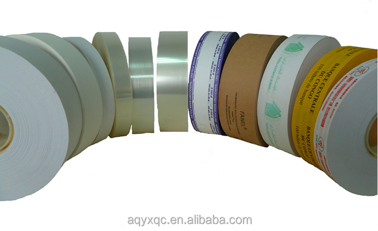 printing offered paper strapping tape for banknote/bill/money