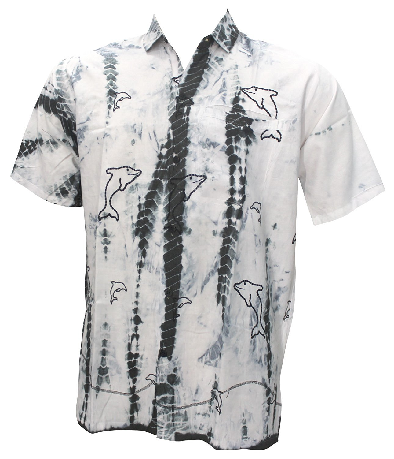 6c474690 La Leela Aloha Hawaiian Tropical BEACH Solid plain Mens Casual Short  Sleeves Button Down Tropical Shirts M White