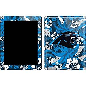 NFL Carolina Panthers New iPad Skin - Carolina Panthers Tropical Print Vinyl Decal Skin For Your New iPad
