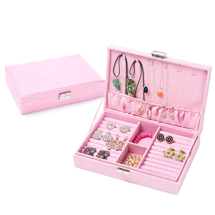 Multi Compartments Small Accessories Collection Organizer Jewellery Case Travel