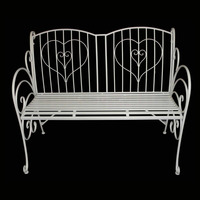 Outdoor garden wrought iron garden bench