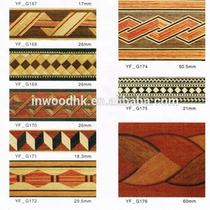 Natural Inlay Strip Border Wood Veneer for Door Furniture Decoration