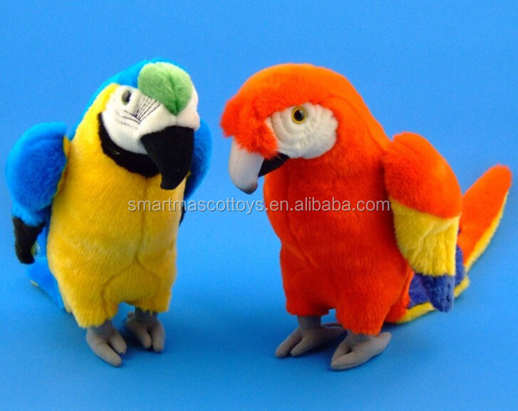 professional customized animal soft plush toys custom stuffed parrot