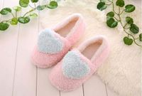 Cheap New Women Cotton Slippers Warm Plush Indoor lady Shoes Soft Bottom Home Floor Slippers