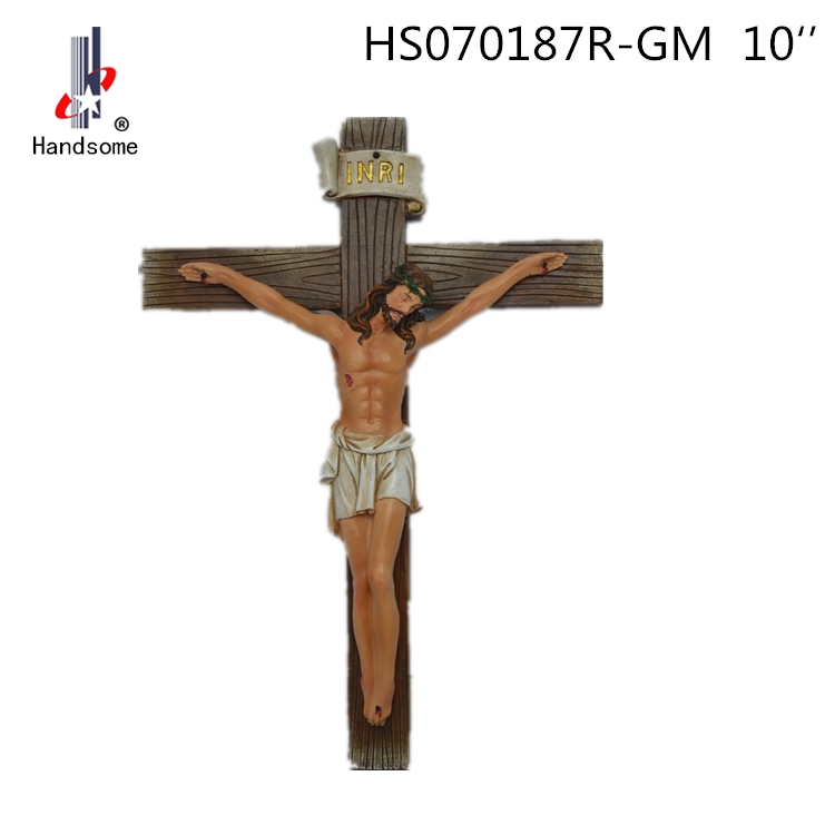 14 Inch Resin Christian Decoration Catholic Cross Religious Crucifix