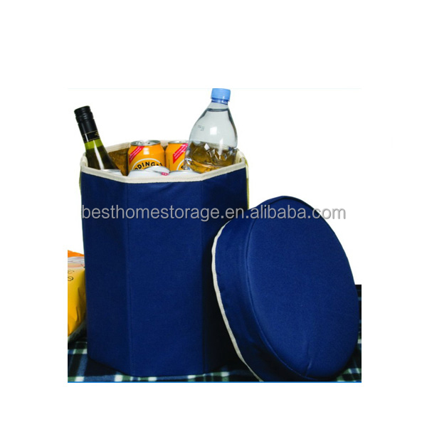600D Polyester Cooler Storage Stool