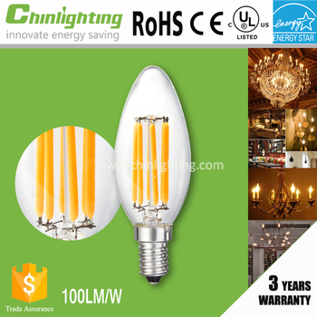 High quality led filament 90Ra 80Ra ENERGY STAR listed led bulb